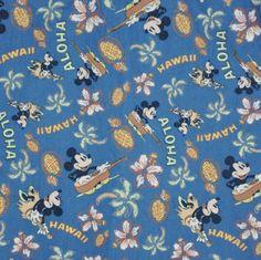 Disney Store Youth Mickey & Minnie Mouse Hawaiian Shirt Aloha