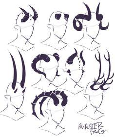 cheatsheet horn part tiefling – binde horn cheatsheet teil 2 (teil ti … - fantasyart Drawing Techniques, Drawing Tips, Drawing Sketches, Drawing Ideas, Anime Drawing Tutorials, Body Sketches, Sketch Ideas, Makeup Techniques, Poses References