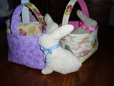 Sunshine in the Attic: Reversible Quilted Easter Baskets and Tutorial
