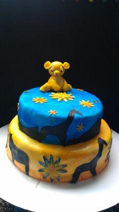 Baby Simba Baby Shower Cake