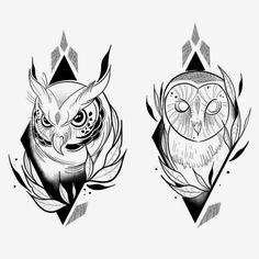 No photo description available. - Top 500 Best Tattoo Ideas And Designs For Men and Women Owl Tattoo Drawings, Tattoo Sketches, Art Sketches, Tattoo Owl, Owl Tattoos, Fish Tattoos, Black Tattoos, Body Art Tattoos, Sleeve Tattoos