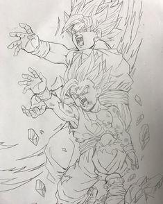 Goku y Gohan Dragon Ball Gt, Goku Drawing, Ball Drawing, Z Tattoo, Fan Art, Goku And Gohan, Anime Character Drawing, Z Arts, Pencil Art