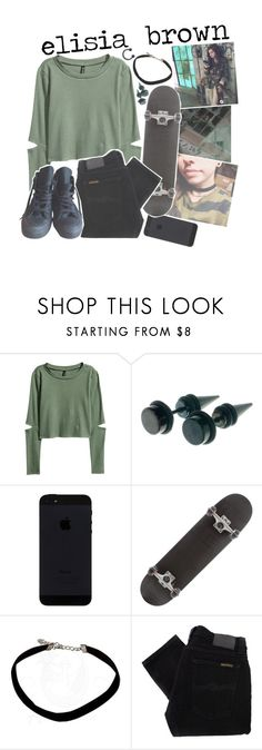 """""""elisia x tagged"""" by zombielover100 ❤ liked on Polyvore featuring H&M, Nudie Jeans Co. and Converse"""