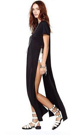 Klik w zdjęcie, a przejdziesz do sklepu :) Sukienka z rozcięciem