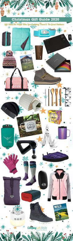 Christmas Gift Guide 2020 - Camping, Travel & Outdoors Gifts #christmas #gifts #christmasgifts #giftideas #christmasinspo #christmasinspiration #campinggifts #travelgifts #campingwithstyle #giftideas