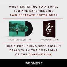When listening to a song, you are experiencing two separate copyrights: the sound recording (the sound you hear) and the underlying composition (the music/lyrics). Music publishing deals with the c… Dolly Parton, Always Love You, Music Lyrics, Music Publishing, Composition, Whitney Houston, Songs, Writing, Separate