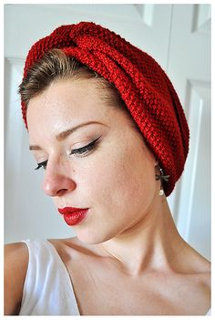 """""""Knit Yourself a Turban"""" vintage #knit pattern from the V&A Museum. @Casey Dalene Dalene 