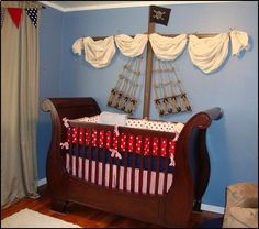 nautical baby boy nursery room ideas | ... pirate themed furniture - nautical theme decorating ideas - Peter Pan
