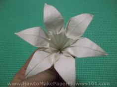 How to Make an Origami Lily Step by Step