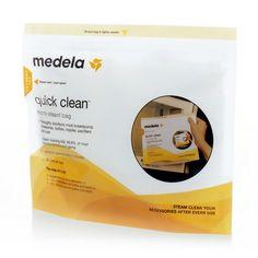 Quick Clean™ #Mikrowellenbeutel von #Medela - damit werden schnell, sicher und praktisch #Milchflaschen , #Sauger , #Schnuller , #Brusthauben und Schläuche gereinigt