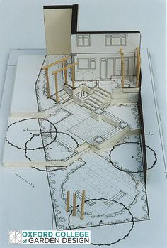 Maqueta exterior - arquitectura del paisaje