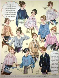 Vintage Catalog Scans from Eaton's 1920s Fashion Catalog