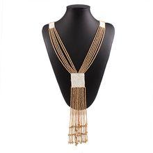 Bohemio 5 Colors cuentas cadenas Maxi collares y colgantes mujeres Boho Chic Collar largo Collar de la joyería del verano Max Colares N441(China (Mainland))