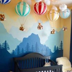 Add some texture to your nursery wall with 3-D wall hangings. Like a mobile, these hangings should b... - Project Nursery