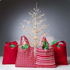 reusable grocery bags as gift bags
