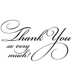 "Penny Black Rubber Stamp 1.75""X2.5""-Flourish Thank You, , hi-res joann.com"