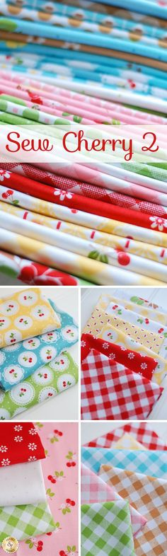 Sew Cherry 2 by Lori Holt of Bee in my Bonnet for Riley Blake Designs is a sweet cherry themed fabric collection available at Shabby Fabrics!