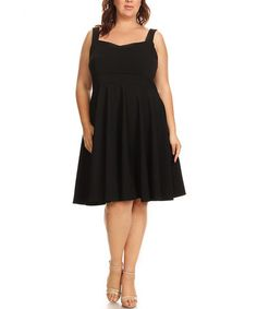 Another great find on #zulily! Black Sleeveless Sweetheart Dress - Plus #zulilyfinds