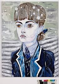Arella by Del Kathryn Barton, shortlisted for Doug Moran Portrait Prize 2015 Del Kathryn Barton, Hollywood Arts, Australian Painting, Call Art, Great Paintings, Whimsical Art, Contemporary Paintings, Pattern Art, Painting & Drawing