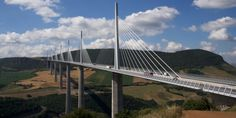 The Millau Viaduct in southern France is one of the world's tallest bridges.