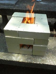 Make sure you know how to make at least one kind of rocket stove ...  It is a very basic survival skill