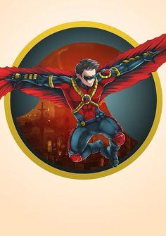 Red Robin by kevzter on DeviantArt - Tim Drake Batwoman, Nightwing, Batgirl, Tim Drake Red Robin, Robin Dc, Dc Comics Art, Batman Comics, Gotham Batman, Batman Art