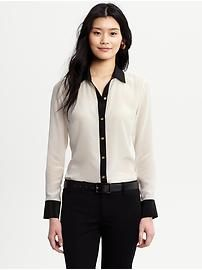 Two-tone Blouse.