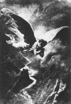 Mihaly Zichy, illustration to the demon of Michail Lermontov