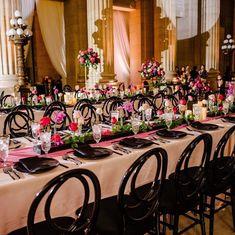 Somer Khouri & Lisa Costin (@acharmingfete) • Instagram photos and videos  #acharmingfete #eventplanning #wedding #weddingideas #receptionideas #realwedding #florals #chairs #chargers #indianwedding Weddingideas, Event Planning, Real Weddings, Florals, Lisa, Reception, Chairs, Photo And Video, Table Decorations