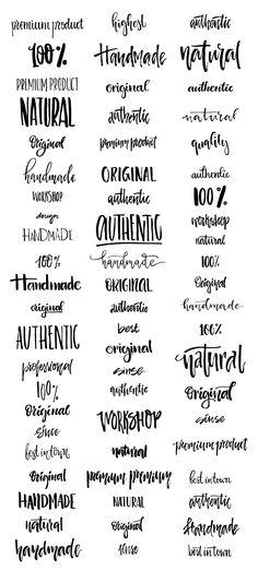Handdrawn Logo Creator Bundle by Favete Art on @creativemarket