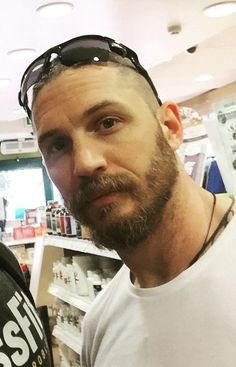 "THAS-Tom Hardy Argentina Station • Tom with a fan today! @amkdbuller ""Only gone and..."