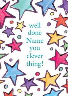 clever thing | personalised well done card  Discount code to get 10% off --> SCRTZZGL
