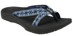 Kalso Earth® Shoe Cabo San Lucas 2 (Sea Blue Multi) a negative heeled shoe for better body alignment and less joint stress Earth Shoes, Cabo San Lucas, Free Shoes, Nice Body, Summer Looks, Black Sandals, Flip Flops, Shoes Heels, Diving