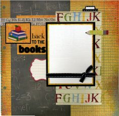 12x12 Premade School Scrapbook Page  Back by SusansScrapbookShack, $16.95