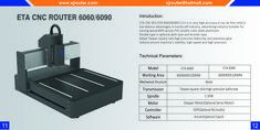 MINI ETA CNC ROUTER suitable for engraving and cutting wood,MDF,plywood,acrylic,PVC,double color plate,aluminum.