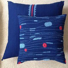 New indigo Kukuben cushions
