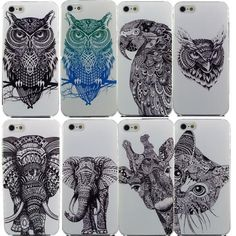 Animal Back Case For iPhone 4 4S 5 5S SE