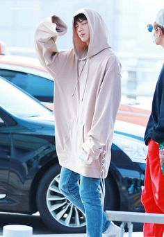 Jin - I don't know why but I love that hoodie