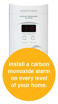 Carbon monoxide poisoning can result from faulty furnaces or other heating appliances, portable generators, water heaters, clothes dryers, or cars left running in garages. At its worst, carbon monoxide can cause severe side effects or even death. Make sure you have a CO alarm.