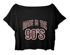 FREE SHIPPING Women's Crop Top Funny Gift T-Shirt Made in the 90's Crop Shirt
