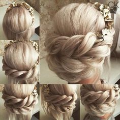 Pin by urlaubgehen on trenzas faciles in 2019 Hairstyle Bridesmaid, Prom Hair Updo, Hair Dos, Up Hairstyles, Wedding Hairstyles, Beautiful Hairstyles, Box Braids Pictures, Costume Noir, Rides Front