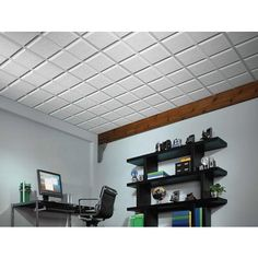 Usg Ceilings - Luna Pedestal IV R72716 Acoustical Ceiling Tiles, 2  Feet x 2  Feet x 3/4  Inch, Shadowline Tapered Edge - 821716 - Home Depot Canada
