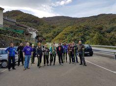 Empresarios turísticos en el taller de Nordic Walking. :: E. C.