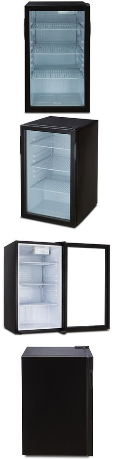 mini fridges compact mini fridge glass door cooler w led interior light - Mini Fridge Glass Door