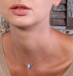 Hamsa necklace gold necklace opal hamsa necklace by Avnis on Etsy, $25.00