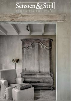 ♅ Dove Gray Home Decor ♅ Uitnodiging Seizoen & Stijl ON ROUTE love this piece of furniture Grey Home Decor, Vintage Home Decor, Castle Stones, Belgian Style, Wabi Sabi, Beautiful Interiors, Shades Of Grey, Painted Furniture, Entryway Furniture
