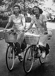 "The Lure of the Open Road: Wartime wandering through the Eastern states by bicycle, truck, and riverboat in 1944 by Thelma Popp Jones published 2007. ""In 1944, Doris Roy and Thelma Popp who were 21 years old and just graduated from college, made a plan to ride bicycles from their home in Buffalo, New York, to Cairo, Illinois, where the Ohio River met the Mississippi."" WOW!"