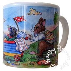 'Off Camping' Children's Mug