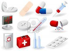 Set of medical icons, illustration Stock Photo - 9121691