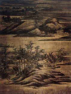 董源 -《寒林重汀圖》                                   日本 黑森古物研究所藏